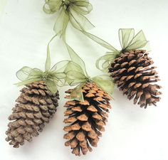 Green Pine Cone Fall Winter Wedding Decoration Favors - Elegant Eco-Friendly by Nature Favors by NatureFavors on Etsy https://www.etsy.com/listing/206765046/green-pine-cone-fall-winter-wedding