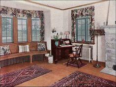 1930 Living Room - Ad for oak floors by American Vintage Home, via Flickr