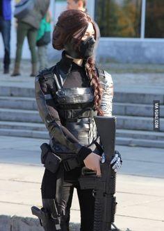 Winter soldier cosplay.