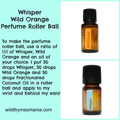 Whisper and Wild Orange Perfume Roller Ball ~ (I would dilute more!)