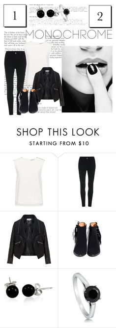 """Monochrome"" by zoe-4-l ❤ liked on Polyvore featuring Finders Keepers, Zizzi, Bling Jewelry, BERRICLE, monochrome and contestentry"