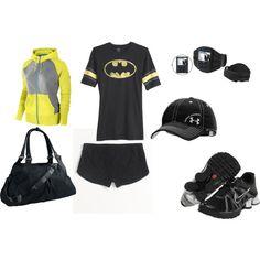 Fun gym outfit  Why, Yes.  I am Batman.