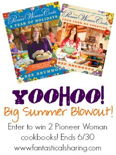 2 Pioneer Woman Cookbooks Giveaway - ends June 30
