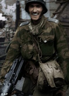 Black and white footage taken during the 1944 Warsaw Uprising against the Nazis have been turned into a mesmerising feature film with sound and colour. Witold Kiesun at the Warsaw Uprising.