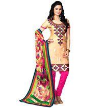 Patiala Phulkari Work Dress Material