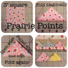 Why Not Sew?: :: Quick Prairie Point How-To ::