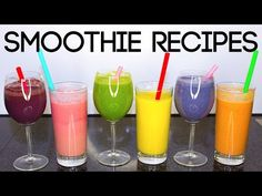 Smoothies de frutas ¡Rico y fácil! - YouTube