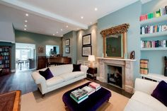 Sold property in Cupar Road, Battersea, House in : SOLD Apr Victorian Living Room, Victorian Homes, House Every Weekend, Victorian Terrace Interior, Front Room Design, 4 Bedroom House, Fireplace Design, Open Plan Living, Home And Living