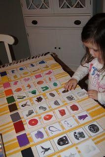 Association boîte couleur 2 avec images ou objets quotidiens