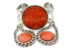 Celebrity NY Agate Set Bracelet Earrings by TheJewelryLadysStore