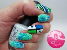 Blue and Green Dry Marble Nails #nude #polish #nailart #nails - bellashoot.com