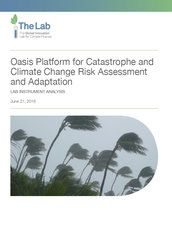Oasis platform for catastrophe and climate change risk assessment and adaptation