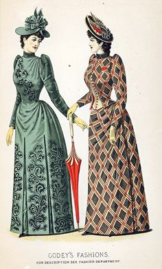 Fashion Plate - Godey's Lady's Book, September 1890