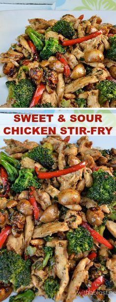 Lip smacking Sweet and Sour Chicken Stir-Fry (with crunchy veggies) is a…