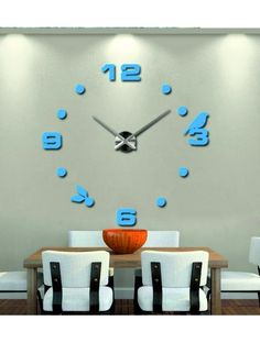 Large wall clocks - PETRA Reference:  12S006-RAL5012-S-COLOR* Condition:  New product  Availability:  In Stock  Choose a color by yourself! The time has come much more cozy realít new clock. 3D large wall clock is a beautiful decoration of your interior. You'll never be late.