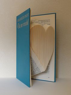 Folded Book Art Heart small Unique present by TheFoldedBookPage