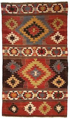 Kilimwholesale.com offers 85 years old Antique Turkish Rug from Konya - Turkey. Code: 090067, Width: 121cm, Length: 221cm, kilim rugs.