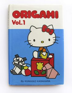 Origami Vol. 1, 1978 with Hello Kitty. Kunihiko Kasahara. Published by Sanrio. Printed in Japan.  For sale by Wary Meyers
