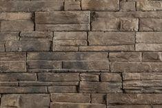 Exterior stone siding, black Bear, Almond Buff