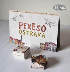 Pexeso+Ostrava+Autorské+naučné+pexeso+Ostrava+Pexeso+je+tištěno+na+recyklovaném+papíře+vysoké+gramáže+(250gr/m).+Je+sešito+japonskou+vazbou.+Funguje+i+jako+knížečka.+Na+pexesu+jsou+vyobrazena+významná+místa,+stavby+i+věci+vztahující+se+khistorii+i+současnosti+Ostravy.+Součástí+knížky+je+i+krabička+pro+pexeso,+která+se+dá+jednoduše+vystřihnout,+narylovat+tupím+...