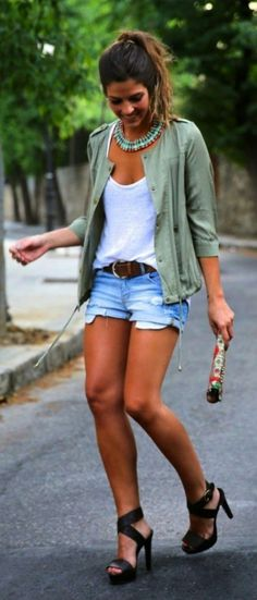 56 Stylist Shorts Outfit Ideas to Copy for Spring Outfit - outfitmad.com