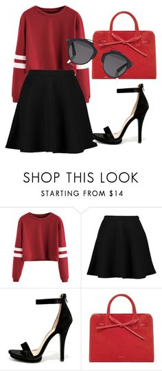 """TODAY IS RED & BLACK"" by lauracanuto ❤ liked on Polyvore featuring Boohoo, Wild Diva and Christian Dior"