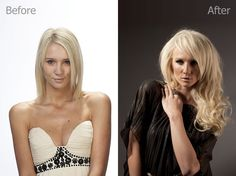 Emily, Before and After - Flip-In Hair Hair You Wear, Flip In Hair Extensions, Hair Flip, Flipping, How To Wear, Tops, Women, Fashion, Moda
