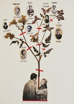 a family tree Kunstjournal Inspiration, Art Journal Inspiration, Art Inspo, Collage Foto, Art Du Collage, Royal Family Trees, Family Tree Art, Family Collage, Art And Illustration