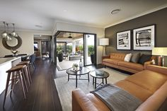 Clarendon Homes. Paddington City 30. Industrial feel to the family room.