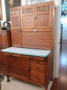 Antique Biederman Hoosier Cabinet Hoosiers Hoosier