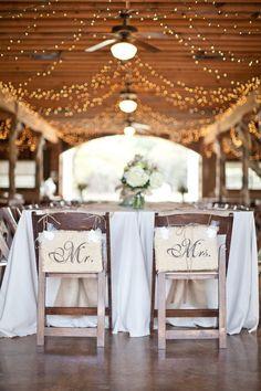 Mr. & Mrs. Barn Wedding Signs