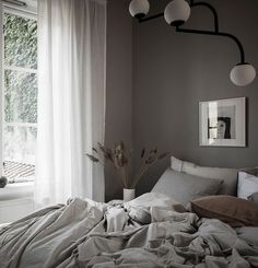 This entire home is painted in the softst greige (a combination of grey and beig., This entire home is painted in the softst greige (a combination of grey and beige) for a very warm and cozy effect. Both the bedroom and living room l. Boys Room Decor, Home Decor Bedroom, Interior Design Kitchen, Modern Interior Design, Aesthetic Rooms, Elegant Homes, Minimalist Bedroom, Cheap Home Decor, The Fresh