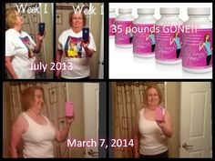 THIS IS ME!!!  The first set of pictures was taken in July 2013 when I first started. I tried it -- for 2 weeks very little happened but THEN I started losing a pound a day for two weeks -- my weight loss slowed down some after that but I have consistently stuck with my Skinny Fiber, drank lots of water and have eaten healthy - I am NOW down 34-35 pounds and I'm off all of my blood pressure medication! http://theskinnybysylvia.eatlessfeelfull.com/