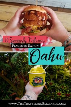 The Best Places to Eat on Oahu Hawaii Vacation Tips, Hawaii Travel Guide, Hawaii Honeymoon, Romantic Honeymoon, Oahu Hawaii, Oahu Restaurants, Dole Pineapple Whip, Immigrant Song, Road Trip Food
