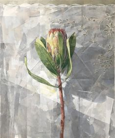 Jeannie Kinsler: Portrait Of A Protea II: fine art | StateoftheART Encaustic Art, Canvas Size, Original Artwork, Fine Art, Portrait, Gallery, Floral, Artist, Painting