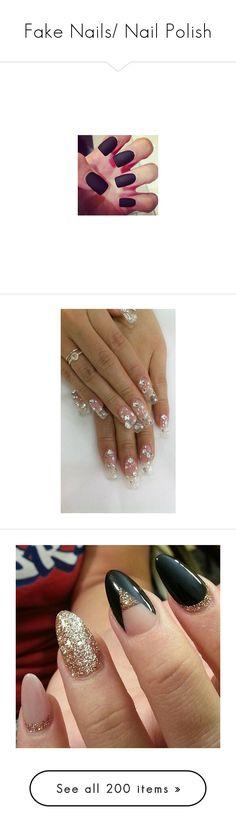 """""""Fake Nails/ Nail Polish"""" by samtiritilli666lol ❤ liked on Polyvore featuring beauty products, nail care, nail treatments, nails, filler, makeup, beauty, nail polish, nail wraps and nail art"""