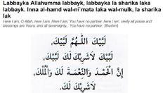 Recite Talbiyah thrice
