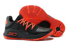 hot sale online f236d 76e22 2017 UA Curry 4 Low Black Red Men s Basketball Shoes
