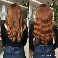 Pink-Red with Yellow Highlights - 20 Cool Styles with Bright Red Hair Color (Updated for - The Trending Hairstyle Pelo Color Cobre, Pelo Color Vino, Bright Red Hair, Red Hair Color, Color Red, Curly Hair Styles, Natural Hair Styles, Luxy Hair Extensions, Natural Red Hair