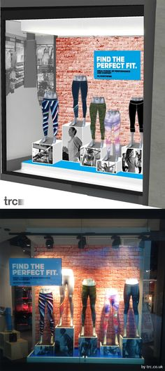 Reebok Bromley, Feature tights window - TRC window design: from concept to completion. #reebok #vm #retailwindows