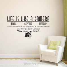 Life is a camera quote wall stickers - Home Decor - Tac City Goods Co - 4