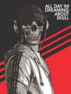 Digital Art by Sigied Himawan Yudhanto #skull