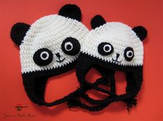 Panda hats.....This one is Erin's favorite!!!