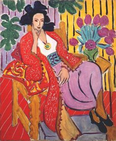 """Odalisque in Red Jacket"", painting by Henri Matisse, 1927 Henri Matisse, Matisse Kunst, Matisse Art, Matisse Paintings, Picasso Paintings, Oil Paintings, Flower Paintings, Fauvism Art, Raoul Dufy"