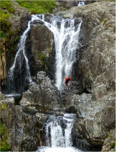 a destination guide to Gorge scrambling in the Lake District, offering information on venues, equipment, and seasonality Lake District, Stuff To Do, Things To Do, Seen, Fun Activities, Waterfall, Scenery, Journey, Lakes