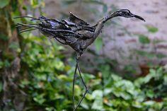 """Monica Montal ; Escultura en hierro ; Serie , """"Pájaros"""""""