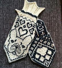 Ethel (French bulldog mittens) by JennyPenny