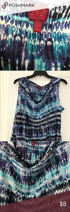 🌼Multi shades of blue shear sleeveless top🌼 Sleeveless, blue base shear blouse 212 Collection Tops Blouses