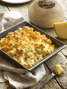 Macaroni met Brugge Rodenbach kaas en ham