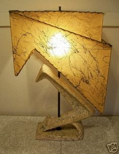 1950's atomic chalkware lamp